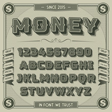 Vintage Money Font With Shadow...