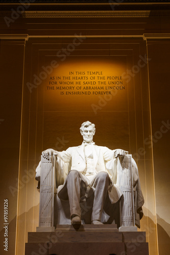 Fotografie, Obraz  Lincoln Memorial at Night