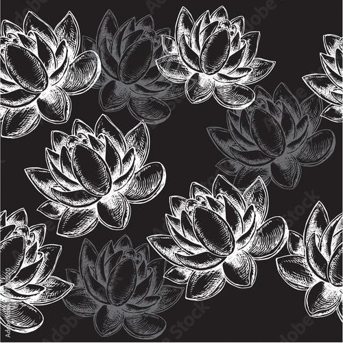 wzor-kwiat-lotosu-na-czarnym-tle