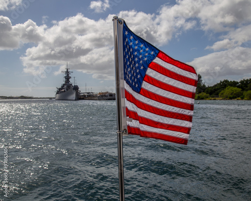 Photo  U.S.S. Arizona Memorial in Pearl Harbor HI