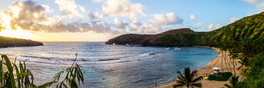 Fototapeta Hanauma Bay oahu snorkeling in hawaii beach