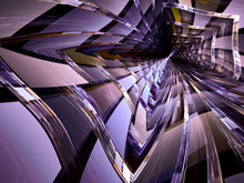 Abstract Digitally Generated Image Glass Tunnel