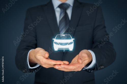 Photo  Car insurance and car services