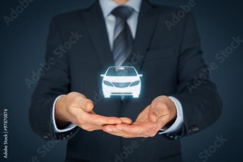 Fotomural Los seguros de automóviles y servicios de coche