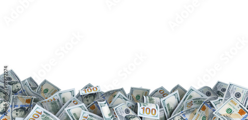Fotografía  lot of 100 dollar bills with a place for your text