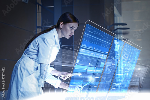 Modern technologies in medicine Canvas Print