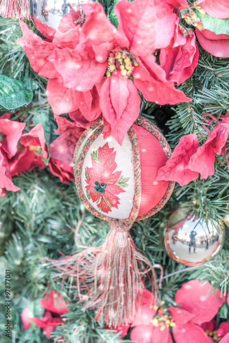 Fototapety, obrazy: Christmas tree and decorations