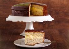 Cake With Custard Cream