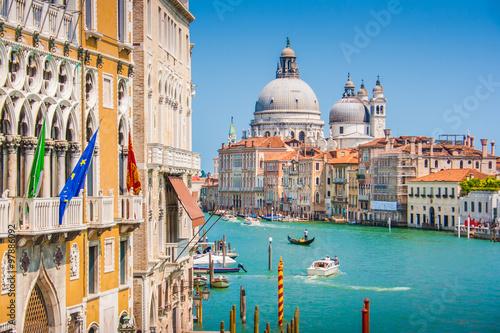 Poster Venise Canal Grande with Basilica di Santa Maria della Salute, Venice, Italy