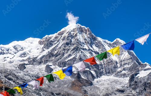 Staande foto Nepal prayer flags