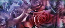 Rosen Malerei Leinwand Dekorativ