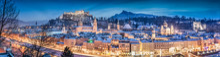 Salzburg Winter Panorama At Ch...