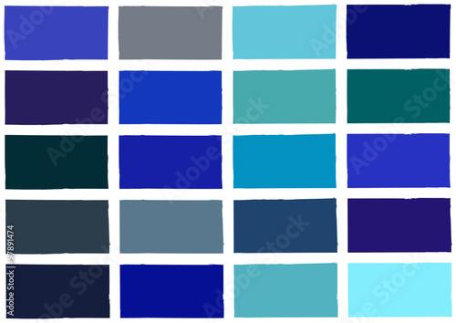 Fototapety, obrazy: Blue Tone Color Shade Background Illustration
