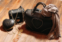 Set Of  Fashionable Leather Woman's Bags