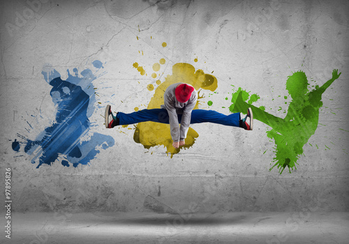 Fotografie, Obraz  Hip hop dancer
