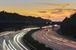 Heavy traffic on the autobahn A2 in Hannover at evening