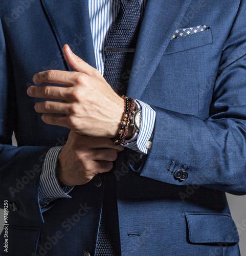 Fotografia Suave modern man in casual style
