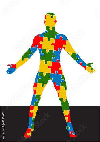 Fotografie, Obraz  puzzle human body