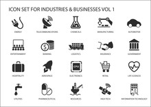 Business Icons And Symbols Of ...