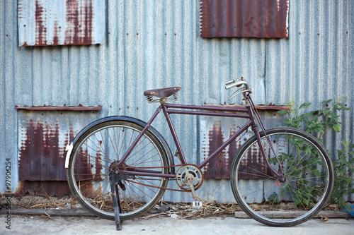 Foto op Plexiglas Fiets vintage bicycle with grunge background