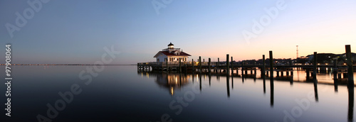 Fotografija Roanoke Marshes Lighthouse Manteo NC Outer Banks North Carolina dock in Albemarl