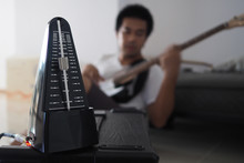 Black Metronome Is Used By Mus...