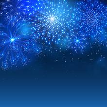Festive Firework Bursting In V...
