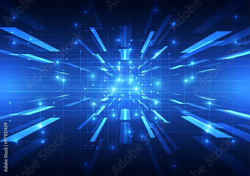 Fotografía  Abstract vector technology background, illustration