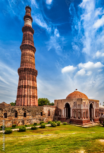 Stickers pour portes Delhi Qutub Minar