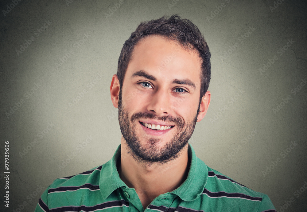 Fototapeta Headshot smiling modern man, creative professional