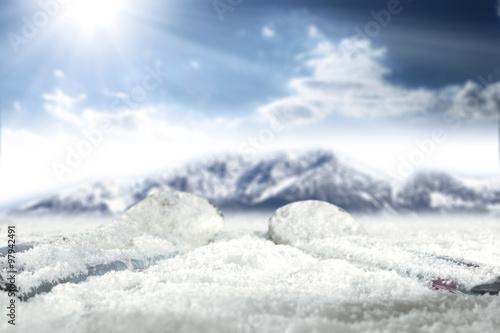 Foto op Plexiglas Landschappen skis