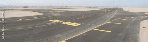 Aluminium Prints Airport Aerial view of an airport runway