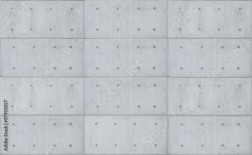 Photo sur Toile Beton bare cast in place gray concrete wall texture background