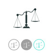 Scales, weighing, weight, balance ,vector icon.