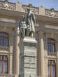 SANTIAGO-NOV 14, 2015: Manuel Montt and Antonio Varas statues in front of a government building in the center of Santiago, Chile