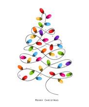 Colorful Christmas Light Bulb ...