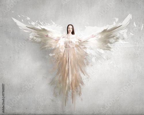 Fényképezés  Angel girl in dress