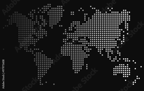 Gradient square world map on black background vector illustration gradient square world map on black background vector illustration gumiabroncs Images