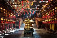 Inside The Main Hall Of Man Mo Temple, Sheung Wan, Hong Kong