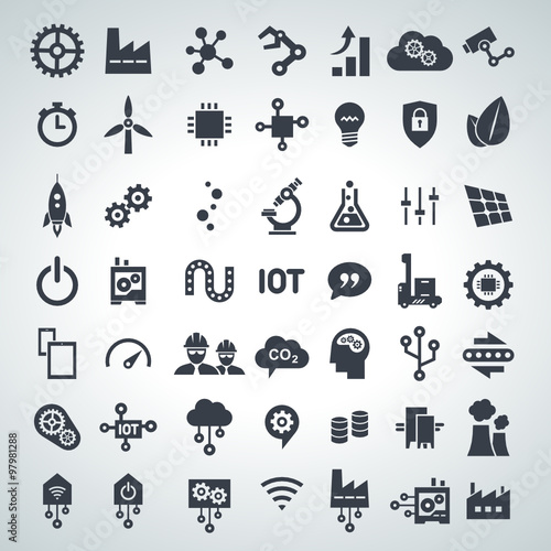 Fotografie, Obraz  icon set industry 4.0 & internet of things, 2015_12 - 001