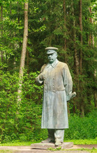 The Monument To Stalin In Grutas Park. Lithuania