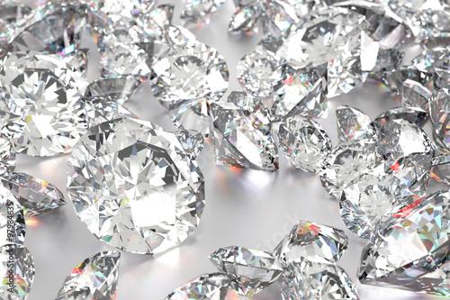 Naklejka na szybę Luxury diamonds on white backgrounds