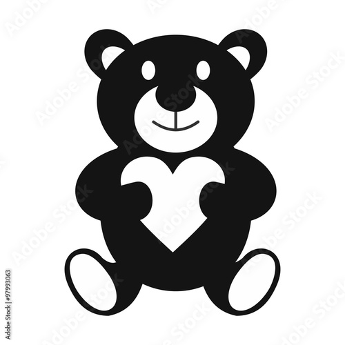 Teddy bear simple icon #97993063