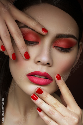 Wall Murals Photo of the day Girl with bright makeup