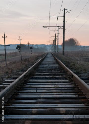 Poster Voies ferrées old railway