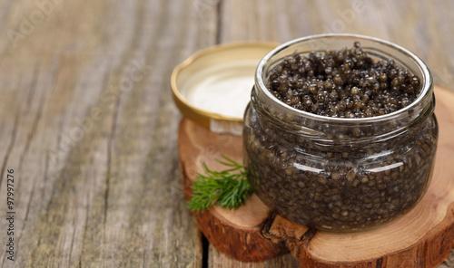 Natural black caviar