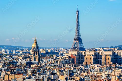 Aluminium Prints Paris Paris Panorama. View from Cathedral Notre Dame de Paris. France.