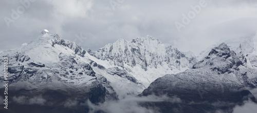 Photo  Cordillera Blanca mountain, Huaraz in Peru