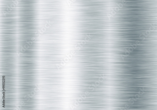 Fotografía  Metal background or texture of brushed steel plate with reflections Iron plate a