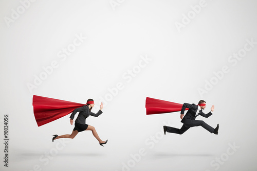 superman and superwoman fast running Poster